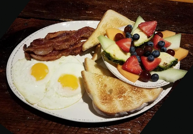 Molly Pitchers - Bacon & Eggs with Fruit