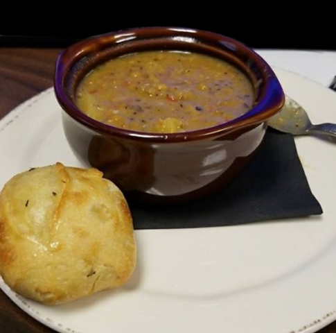 Molly Pitchers - Hawaiian Lentil Soup with Ham and Pineapple